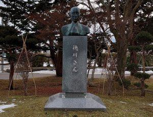 徳川さんの像(1月末)